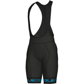 Alé Cycling PRR Strada Bib Shorts Heren, black-cyan